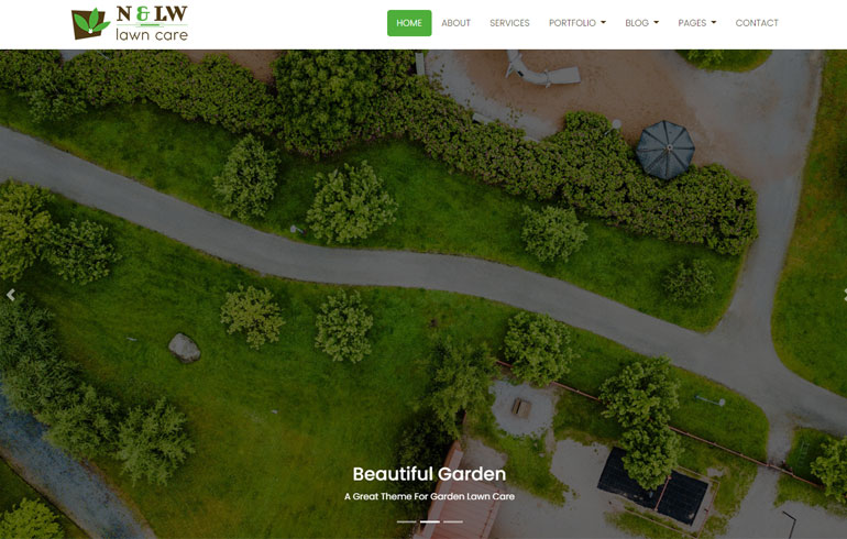 Lawn Care - A Landscaping Bootstrap4 HTML5 Responsive Template