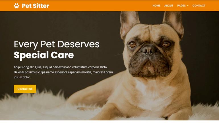 Pet Sitter : A CSS Responsive Website Template
