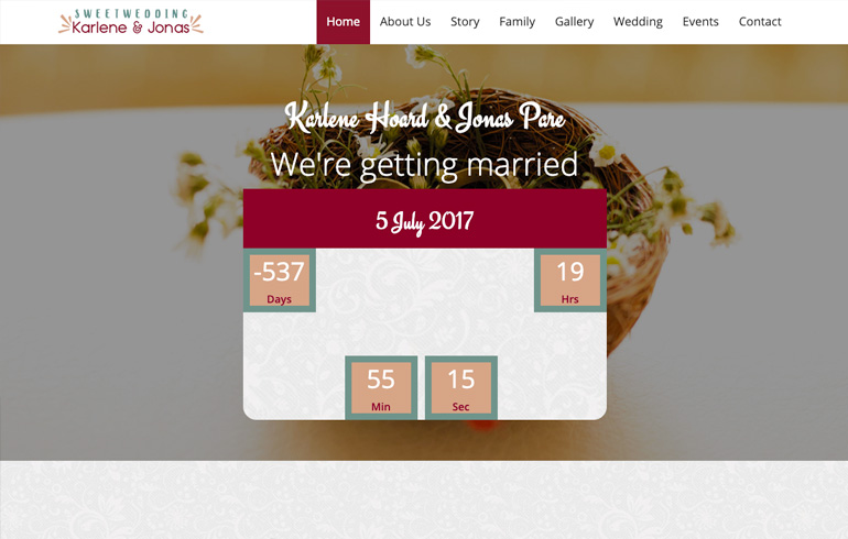 Sweet - A Free Wedding Responsive OnePage HTML5 Template